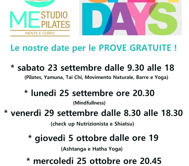 Date uniche OPEN DAY